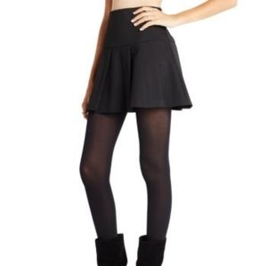 BCBG Generation Black Pleated Mini Skirt